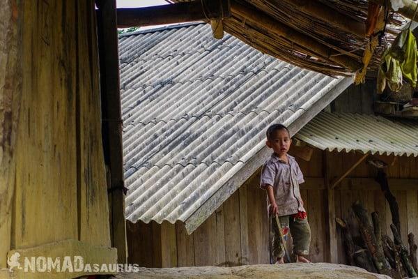 Young Boy Ba Be National Park Lake Mr Linh's Homestay Trekking