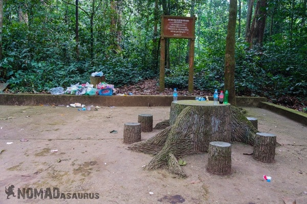 Resting Area Cuc Phuong National Park Waste Litter Trash
