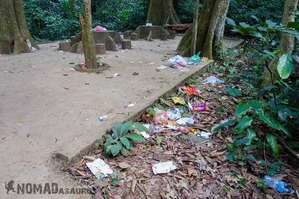 Off Path Cuc Phuong National Park Waste Litter Trash