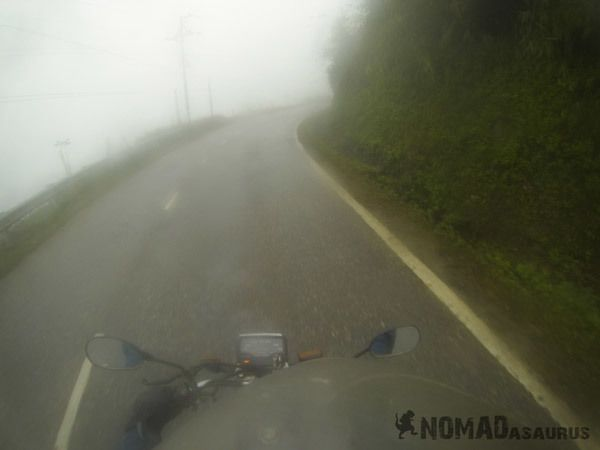 Foggy Road Motorbike Extinguishing Travel Burnout