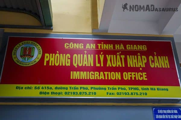 Sign Permit Ha Giang Northern Vietnam Immigration Office