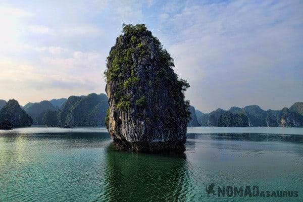 Limestone Monolith Halong Bay Vietnam Image Wonder Of The World