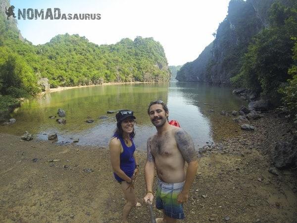 Lesh Jazza Nomadasaurus Kayak Private Beach Halong Bay Vietnam Image Wonder Of The World