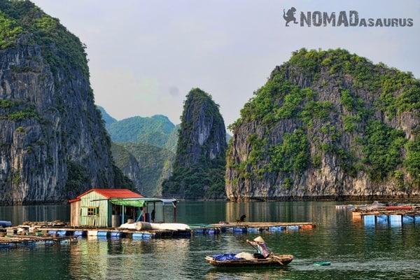 Fishing Village Halong Bay Vietnam Wonder Of The World