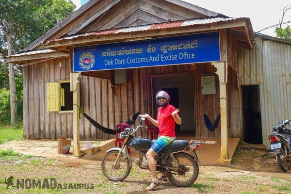 Crossing The Border With A Motorbike In Southeast Asia