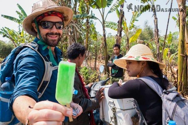 Ice Block Trekking From Kalaw To Inle Lake Myanmar Burma