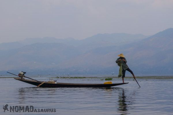 Fisherman Trekking From Kalaw To Inle Lake Myanmar Burma