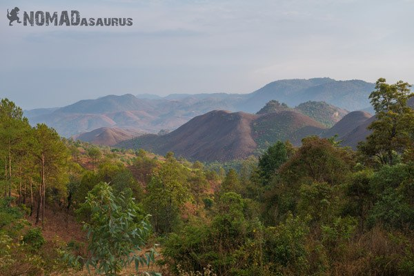 Views Trekking From Kalaw To Inle Lake Myanmar Burma