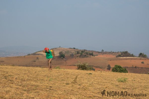 Shan Local Walking Trekking From Kalaw To Inle Lake Myanmar Burma