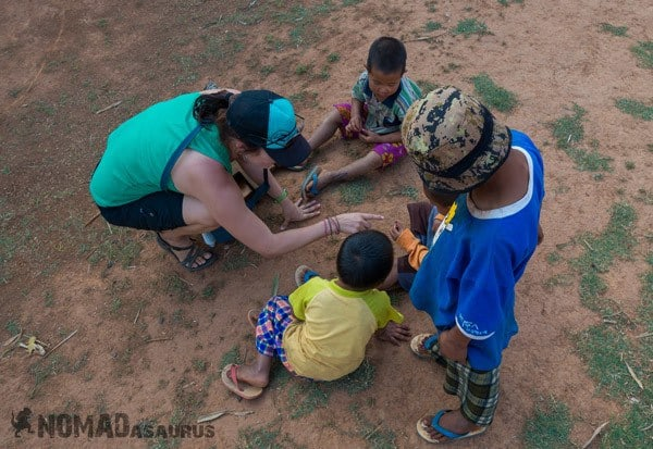 Lesh Manicure Children Trekking From Kalaw To Inle Lake Myanmar Burma