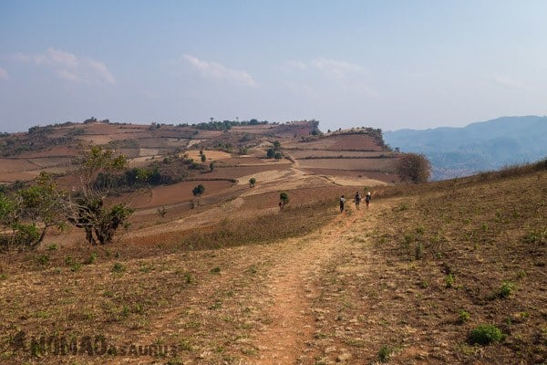 Landscapes Trekking From Kalaw To Inle Lake Myanmar Burma