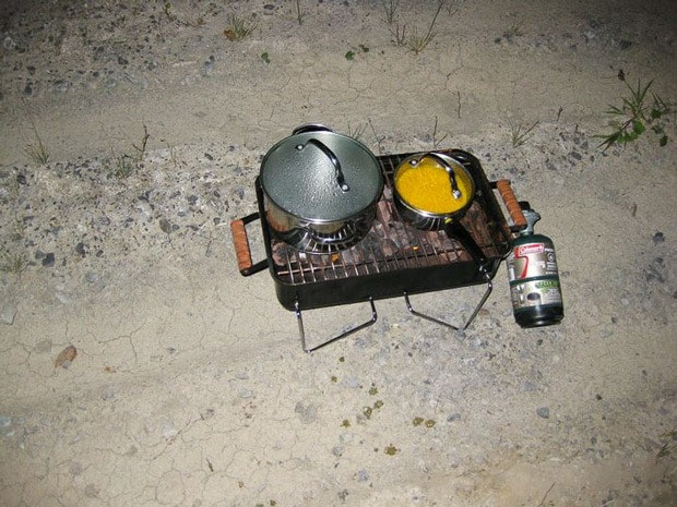 Gas Barbecue Cooking Buying A Car Van Driving Across Canada Road Trip