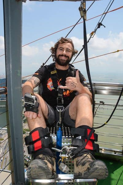 Jazza World's Highest Bungy Jump Macau Tower AJ Hackett Bungee