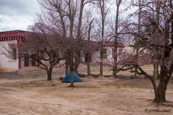 Darjay Gompa Monastery Camping Accommodation Tibet Overland Route Shangri La To Chengdu Kham Province Travel