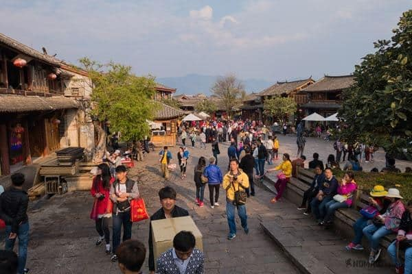 Crowds Lijiang Yunnan China