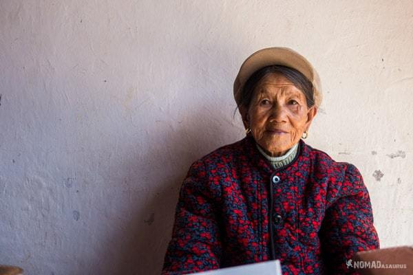 Grandma Liu Baisha Village Lijiang Yunnan China