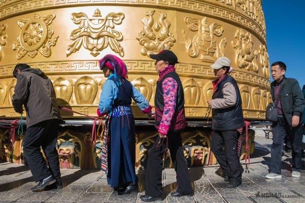 World's Largest Prayer Wheel Tibet Overland Route Shangri La To Chengdu Kham Province Travel