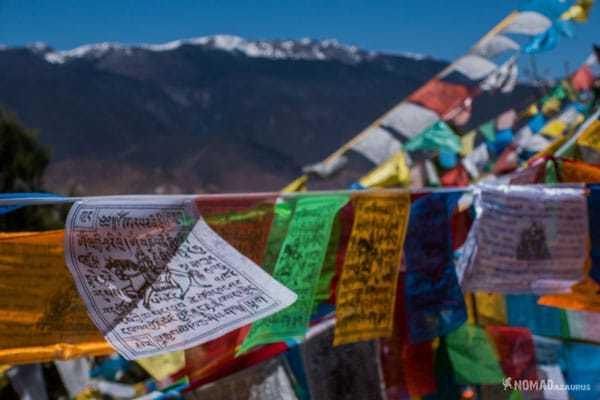 Prayer Flags Tibet Overland Route Shangri La To Chengdu Kham Province Travel
