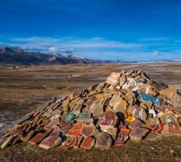 Tibetan Sky Burial Stones