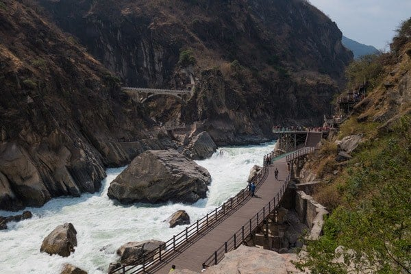 Boardwalks Tiger Leaping Gorge Trekking Guide Yunnan China