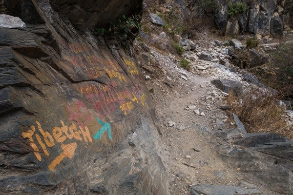 Painted Signs Tiger Leaping Gorge Trekking Guide Yunnan China