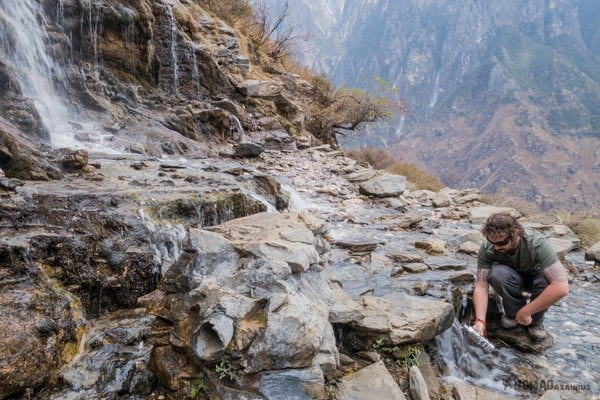 Steripen Waterfall Tiger Leaping Gorge Trekking Guide Yunnan China