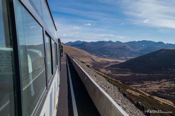 Bus View Tibet Overland Shangri La To Chengdu