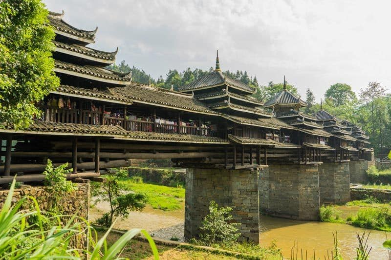 Yongji Wind And Rain Bridge Chengyang Ancient Village Guangxi China