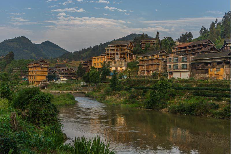 Views of Chengyang Ancient Village Guangxi China