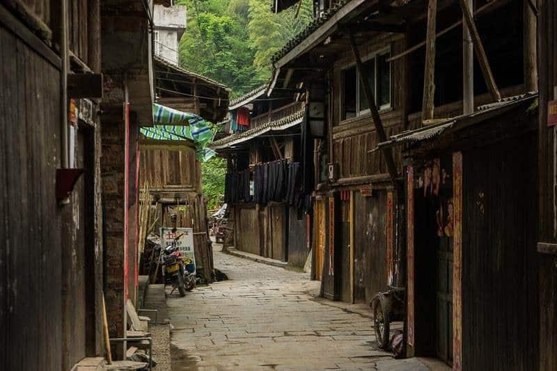Narrow Alley Chengyang Ancient Village Guangxi China