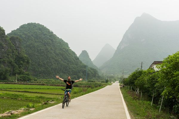 Bicycle Yangshuo Guangxi China Sustainable Tourism Responsible Travel