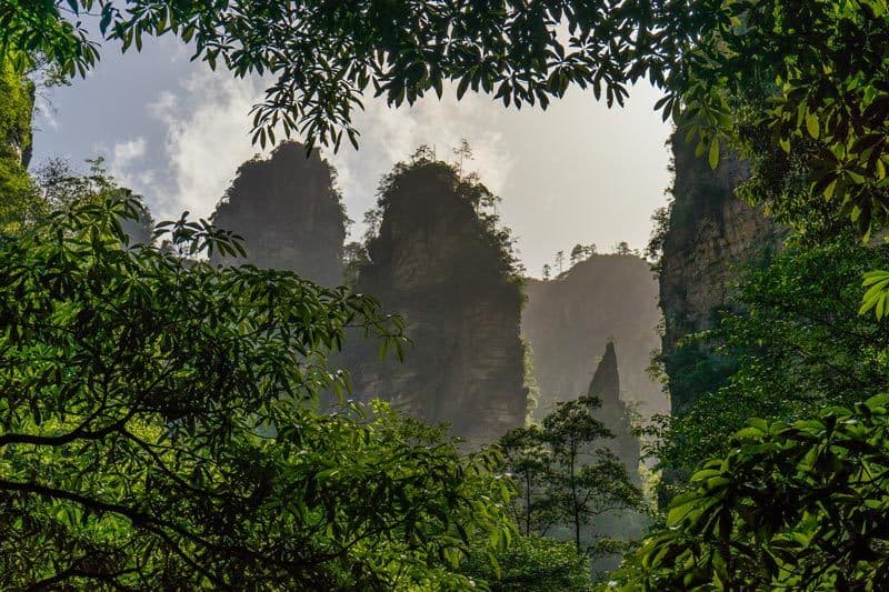Zhangjiajie National Forest Park Avatar Mountains China