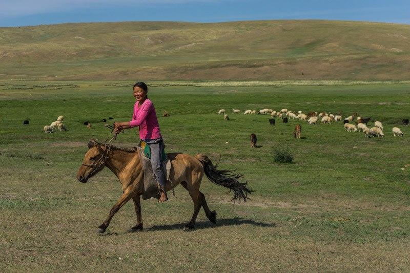 Young Girl Nomadic Family Nomad Life Mongolia Selena Travel Gobi Desert Tour