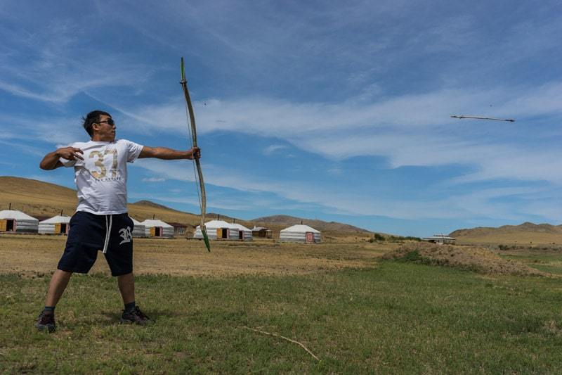 Archery Gobi Desert Tour Mongolia Photo Journal Selena Travel