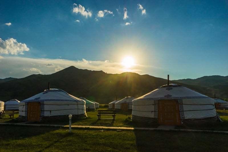 Sunset Ger Gobi Desert Tour Mongolia Photo Journal Selena Travel