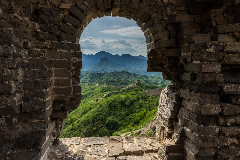 Watch Tower View Gubeikou Camping On The Great Wall Of China
