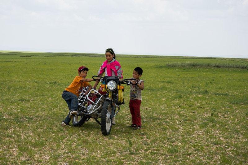 Kids Motorbike Gobi Desert Tour Mongolia Photo Journal Selena Travel