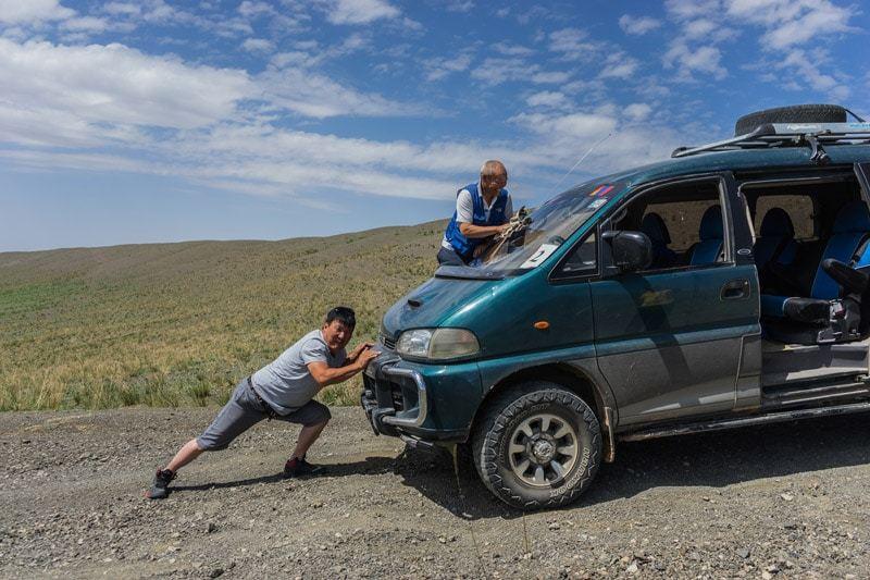 Drivers Van Gobi Desert Tour Mongolia Photo Journal Selena Travel