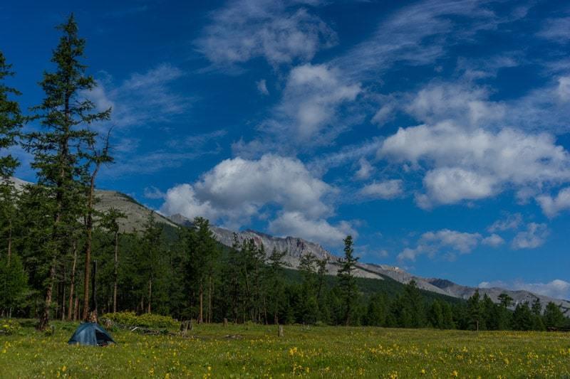 Camping In Khovsgol Lake