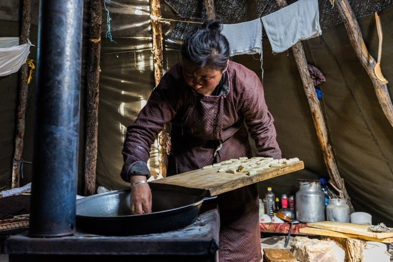 Making Cheese Tsaatan People Dukha Reindeer Herders Mongolia