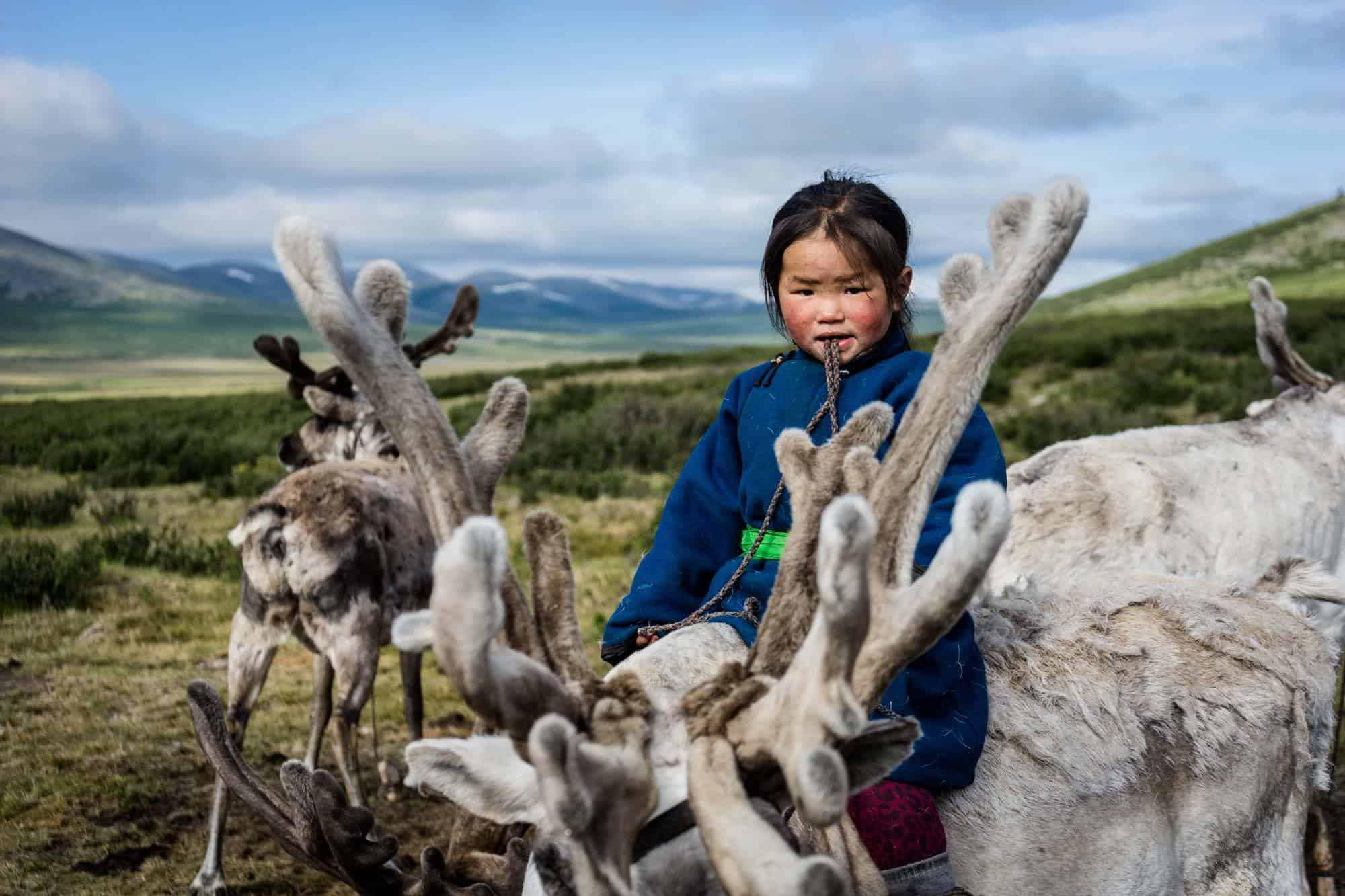 Tsaatan Reindeer Herders Mongolia