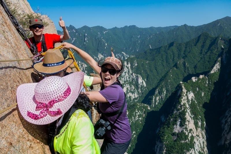 Hanging Off Edge Plank Walk China