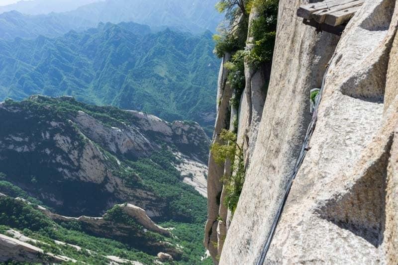 Cliffside Mount Huashan Hike