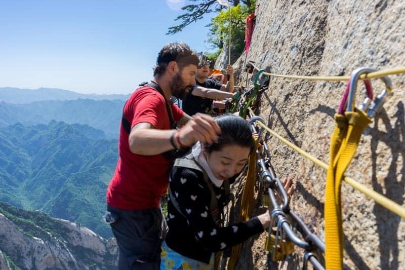 Scared Local Mount Huashan Hike