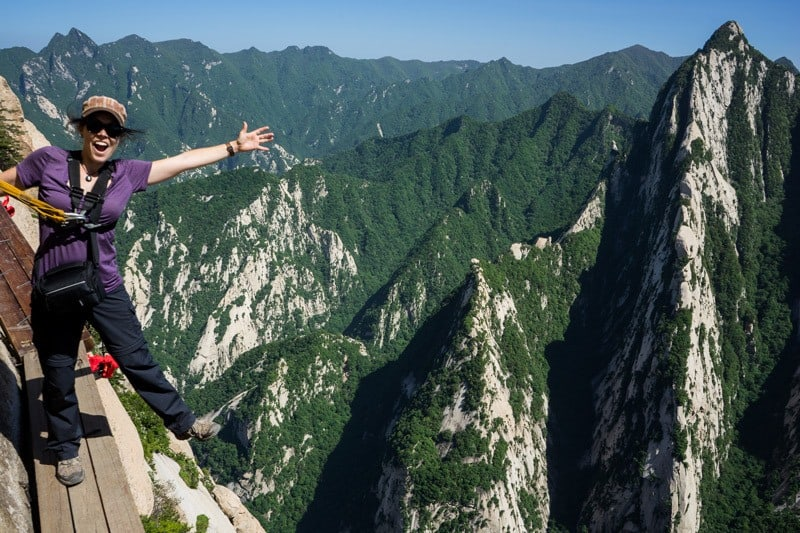 Mount Huashan World'S Most Dangerous Hike Plank Walk