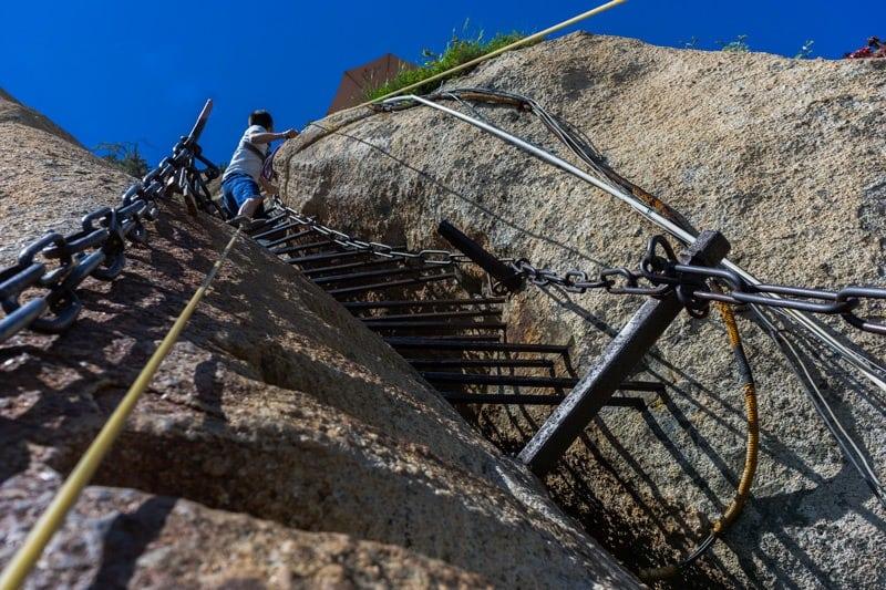 Crazy Ladder Mount Huashan Hike