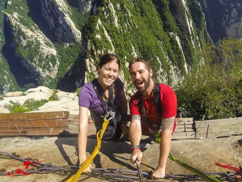 NOMADasaurus Adventure Travel Blog Selfie Mount Huashan World's Most Dangerous Hike Plank Walk
