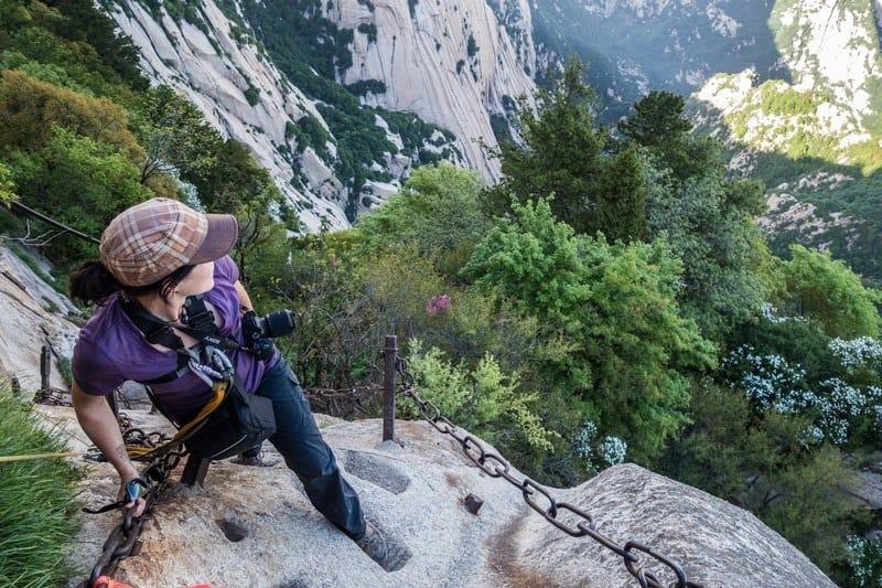 Alesha Views Mount Huashan Hike