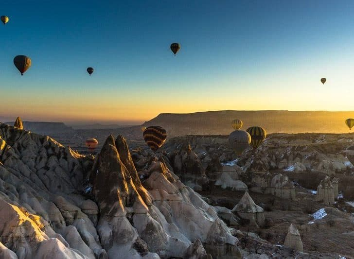 Flying High In A Hot Air Balloon In Cappadocia