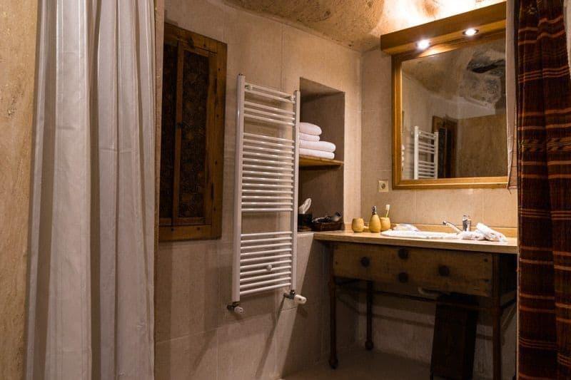 Bathroom Kale Konak Cave Hotel Uchisar Goreme Best Boutique Hotel Cappadocia